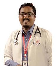 Dr.  Arun V Joy, Pulmonologist